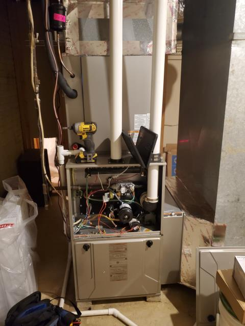 Thornville, OH - I found the issue to be with the drain line in the humidifier being clogged. I cleared the clog and re-glued the piping for the customer. I emptied the bucket of water for the customer. I also removed a mouse from the customer's basement for them. System operational upon departure.
