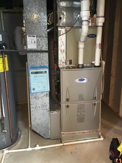 Lewis Center, OH - I completed a diagnostic on a Carrier gas furnace.  I found that the filter was dirty.  Replaced filter which was provided by the client.  Cycled furnace.  Found that the humidifier water line was clogged at the saddle valve.  Cleared debris from the valve and restored water to the humidifier.  Cycled and monitored the system.  Operating normally at this time.