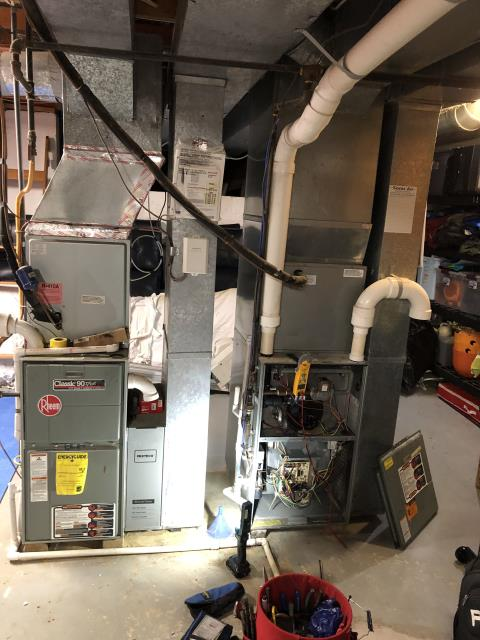 Powell, OH - Return Service for a Rheem gas furnace.  I replaced the circuit control board.  Cycled and monitored the system.  Operating normally at this time.