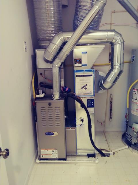 Powell, OH - I completed the service maintenance agreement tune up on a Carrier gas furnace.  I visually inspected the unit.  I cleaned the flame ssensor.   Checked voltages, amps and pressures.  Completed combustion analysis.  Cycled and monitored system.  Operating normally at this time.