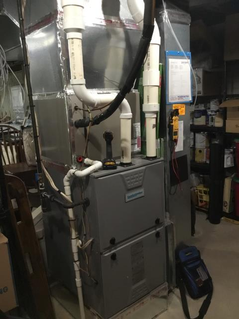 Lancaster, OH - I completed the service maintenance agreement tune up on a Comfortmaker gas furnace.  I visually inspected the unit.  Checked voltages, amps and pressures.  Completed combustion analysis.  Cycled and monitored system.  Operating normally at this time.