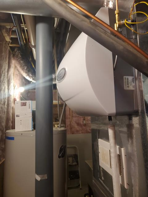 Lithopolis, OH - I installed an Aprilaire 600M Humidifier. I cycled the system multiple times to ensure the equipment worked properly. System is operational upon departure.