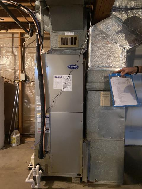 """Hebron, OH - I installed a Five Star Multi-Speed 2.5 Ton Electric Furnace / """"Slant"""" Coil and a Carrier 14 SEER 2.5 Ton Heat Pump"""