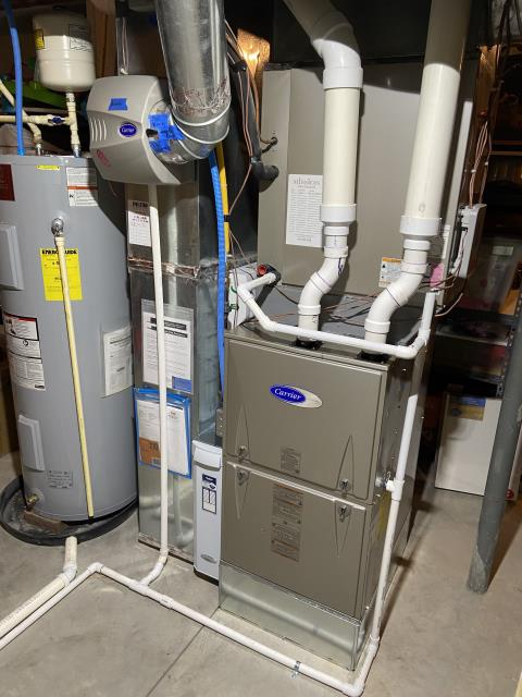 Delaware, OH - I performed a tune up on a Carrier gas furnace. While performing the tune up, the customer inquired about changing their flex duct work to steel duct work. I informed the customer I would need to check in with a supervisor about that and that someone would reach out to her with an answer. System is operational upon departure.