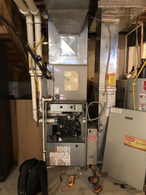 New Albany, OH - I completed a diagnostic on a Bryant gas furnace.  Determined that the inducer motor is beginning to fail.  I gave the client an estimate to replace the inducer motor.  Client authorized repairs.  Part to be ordered.  Cycled and monitored the system.  Operating at this time.