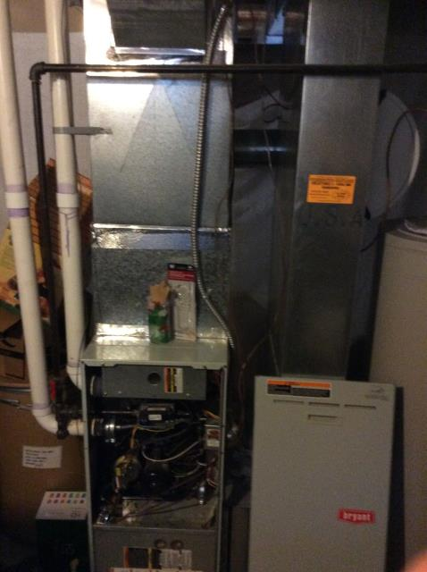 Groveport, OH - I completed a diagnostic on a Bryant gas furnace.  Determined that the ignitor was bad.  I gave the client an estimate to replace the ignitor.  Client authorized repairs.  I replaced the ignitor.  I cleaned the condensate trap and the flame sensor.  Cycled and monitored the system.  Operating normally at this time.