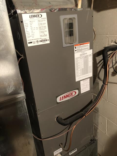 Groveport, OH - I completed a diagnostic on a Lennox heat pump with an electric furnace.  Determined that the thermostat was not wired correctly.  Auxiliary heat was not connected at the air handler.  I switched the wiring at the thermostat.  Cycled and monitored the system.  Operating normally at this time.