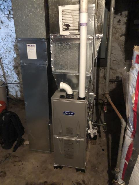 Hamilton, OH - I installed a Carrier 96% 60,000 BTU Gas Furnace. I cycled the system to ensure functionality. System is operational upon departure.