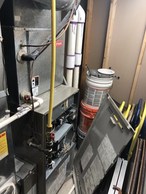 Westerville, OH - arrival furnace was not heating or igniting. Checked fault code on furnace showed code 42 for inducer motor fault. Checked power to inducer had 120 to the inducer motor inducer motor was not running. Diagnosed inducer motor to be bad and need to be replaced. Talk to customer about replacement options he was also wondering about replacing the entire system gave him options on replacing the full system. Just wants to replace the inducer motor at this time. Price quoted ECM inducer motor and will be replacing.
