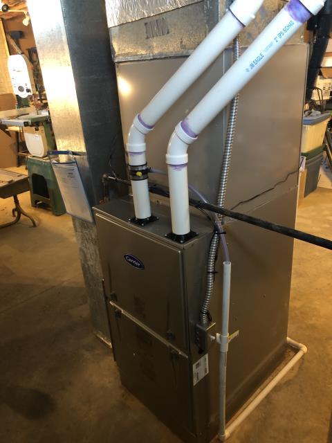 Pataskala, OH - I removed a Bryant gas furnace and air conditioner.  I installed a Carrier 96% 80,000 BTU Gas Furnace and a Carrier 16 SEER 3.5 Ton Air Conditioner.  Cycled and monitored the system.  Operating normally at this time. Included with the installation is a free 1 year service maintenance agreement.