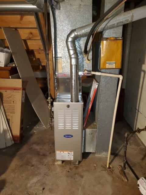 Canal Winchester, OH - Return Service for a Carrier gas furnace.  I replaced the inducer motor.  Cycled and monitored the system.  Operating normally at this time.