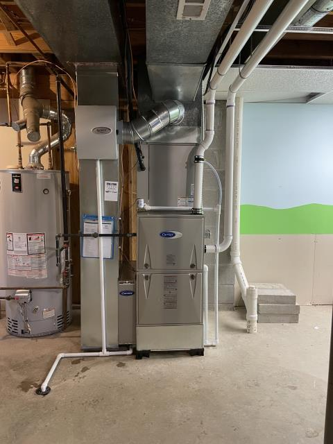 Lewis Center, OH - I removed a Bryant gas furnace.  I installed a Carrier 96% Two-Stage 80,000 BTU Gas Furnace.  Cycled and monitored the system.  Operating normally at this time.  Included with the installation is a free 1 year service maintenance agreement.