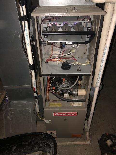 Delaware, OH - Return Service for a Goodman gas furnace.  I replaced the inducer motor.  Cycled and monitored the system.  Operating normally at this time.