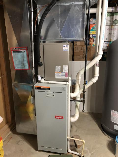 Carroll, OH - I completed a diagnostic on a Bryant gas furnace.  Upon arrival found there was an error code for ignition lockout.  Reset and cycled furnace.   Determined that the ignitor failed.  I gave the client an estimate to replace the ignitor.  Client authorized repair.  I replace the ignitor.  I cleaned the flame sensor.  I cleaned the condensate trap.  I completed the combustion analysis.  Furnace passed the combustion analysis.  Cycled and monitored the system.  Operating normally at this time.  Based on age (22 years old), cost of all seen repairs and future unseen repairs, lack of efficiency I recommend planning on replacing the furnace in near future.