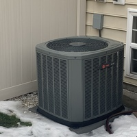 Reynoldsburg, OH - Replaced Carrier 80% BTU gas furnace & Carrier brand air conditioner for customer.