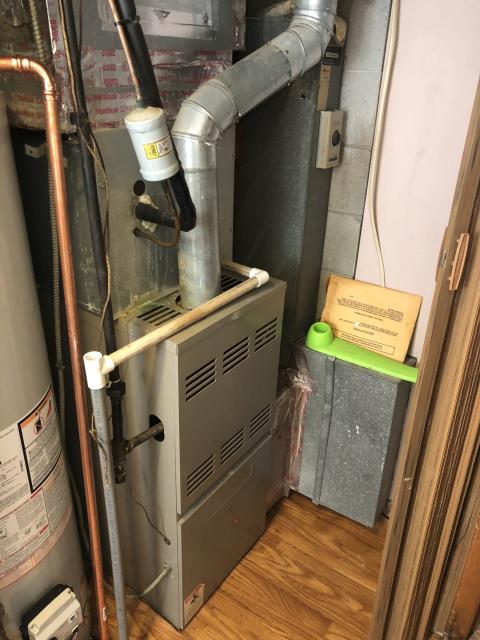 Columbus, OH - I completed a tune up on a Goodman gas furnace.  I visually inspected the unit.  Noted the wiring and connections and the blower is dirty.   The burners are dirty and rusted.  I cleaned the flame sensor.  Checked voltages, amps and pressures.  Completed combustion analysis.  Cycled and monitored system.  Operating normally at this time.