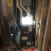 Thornville, OH - Installing a Carrier 96% 40,000 BTU Gas Furnace and a Carrier 16 SEER 2 Ton Air Conditioner. Customer will receive a year of our scheduled maintenance agreement as a courtesy with purchase.