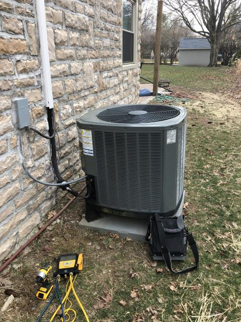 Dublin, OH - Diagnostic service call on a Ameristar gas furnace and a Trane heat pump.  Determined that there a a high efficiency 1 inch filter that was restricting air flow.  I removed the filter.  Cycled and monitored the system.  Operating normally at this time.  I recommend that a lower efficiency filter be used and regular maintenance on the system.