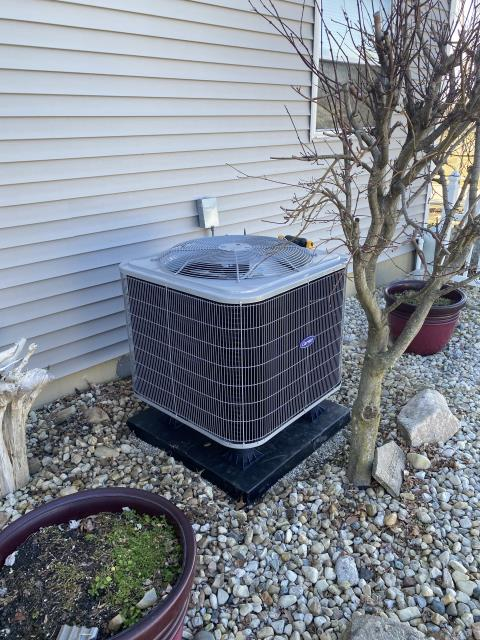 Mason, OH - I removed a Goodman heat pump and electric air handler.  I installed a Carrier Multi-Speed X-13 2 Ton Electric Furnace and a Carrier 15 SEER 2 Ton Heat Pump.  Cycled and monitored the system.  Operating normally at this time.  Included with the installation is a free 1 year service maintenance agreement.