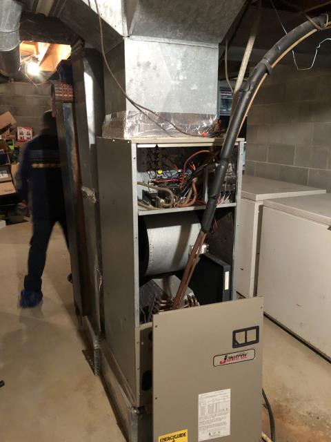 Groveport, OH - I completed a diagnostic on a Goodman heat pump with a Janitrol electric furnace.  Determined that shut off switch on the Janitrol electric furnace is bad.  I gave the client an estimate to replace the shut off switch.  Client declined any repairs at this time.