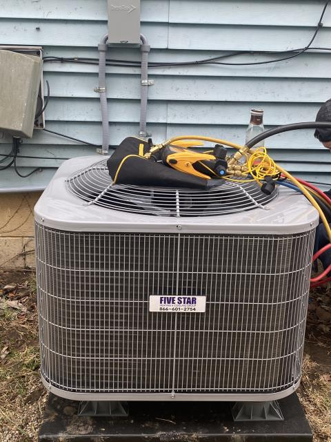 Dayton, OH - I installed a Five Star 13 SEER 3 Ton Air Conditioner.  Cycled and monitored the system.  Operating normally at this time.  Included with the installation is a free 1 year service maintenance agreement.