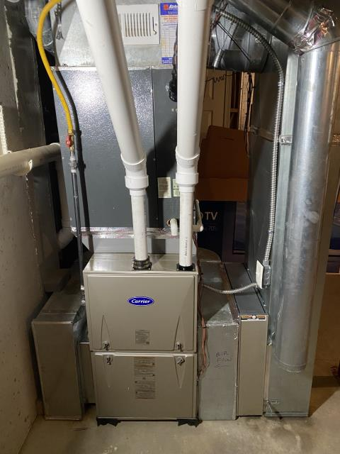 Fairfield, OH - I removed a Goodman gas furnace.  I installed a Carrier 96% 100,000 BTU Gas Furnace.  Cycled and monitored the system.  Operating normally at this time.  Included with the installation is a free 1 year service maintenance agreement.