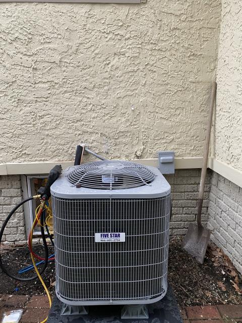 Springfield, OH - I completed an install on a Five Star 13 SEER 2.5 Ton Air Conditioner. Dropped furnace down and made new furnace box. Installed new supply plenum and straighten and fix all flex duct.