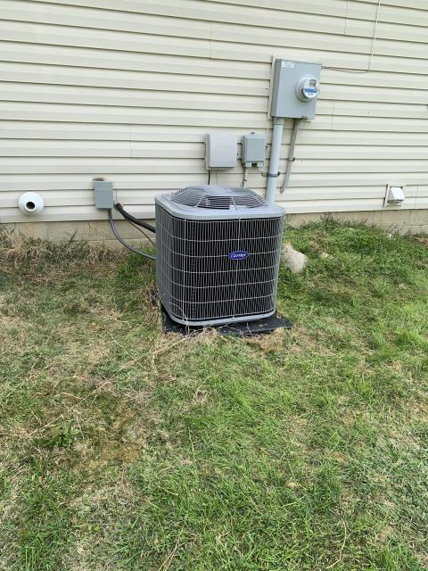 Groveport, OH - I completed a diagnostic service call for a pilot light that keeps going out. Found inducer motor locked up and humming. Made inducer clear of obstructions. Motor needs replaced. Sent estimate for furnace replacement per customer request. Heat is sporadic at this time.