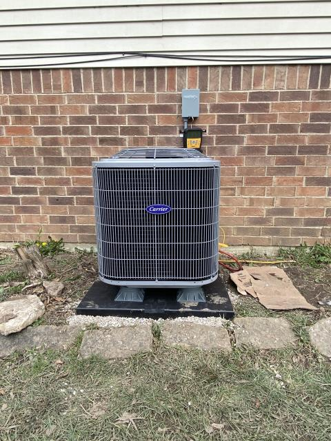 Dayton, OH -  I removed a Bryant Gas furnace and Air Conditioner.  I installed a Carrier 80% 70,000 BTU Gas FUrnace and Carrier 13 SEER 2.5 Ton Air Conditioner  Cycled and monitored the system.  Operating normally at this time.  Included with the installation is a free 1 year service maintenance agreement.