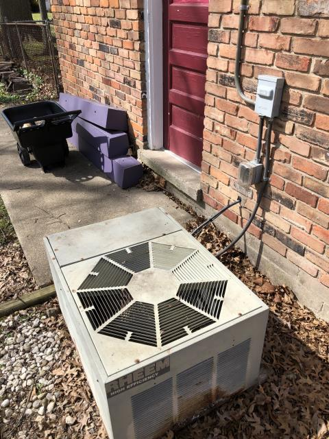 Milford, OH - I removed a Rheem air conditioner (see picture below).  I installed a Five Star 13 SEER 2.5 Ton Air Conditioner.  Cycled and monitored the system.  Operating normally at this time.  Included with the installation is a free 1 year service maintenance agreement.