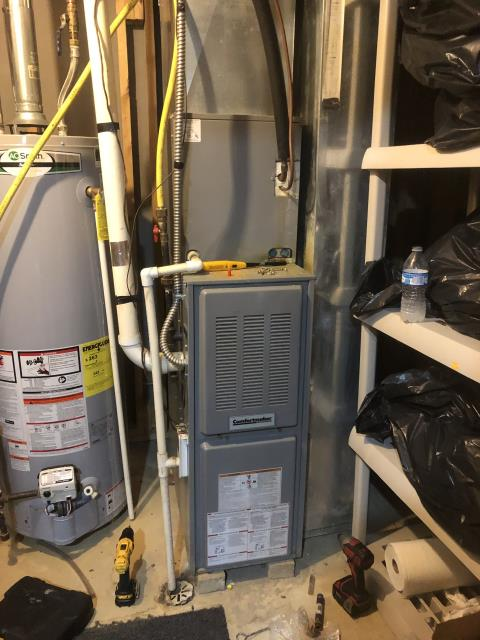 Pataskala, OH - I completed a diagnostic on a Comfortmaker gas furnace.  Determined that the pressure switch vacuum lines were run to the condensate drain.  I corrected the position of the vacuum lines.  Cycled and monitored the system.  Operating normally at this time.