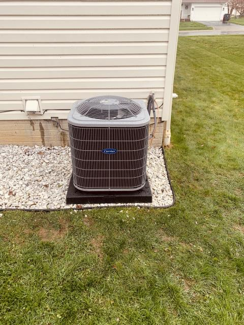 Pataskala, OH - I completed a diagnostic on a Carrier Air Conditioner. I determined that the system was low on refrigerant. Added refrigerant, System was operational at time of departure.
