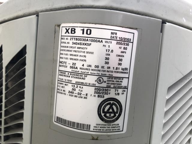 Pataskala, OH - I came out to charge a 2003 Trane Air Conditioner. I added 1 1/2 lbs of Freon to the system.