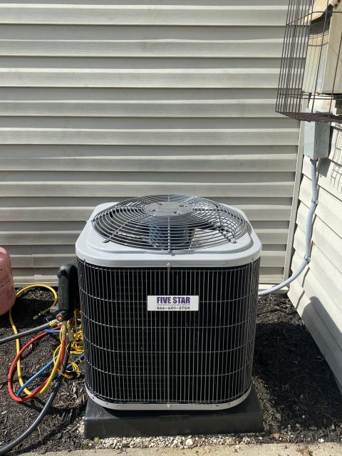 Mason, OH - I removed a Bryant Air Conditioner. I installed a Five Star 13 SEER 1.5 Ton Air Conditioner Cycled and monitored the system.  Operating normally at this time.  Included with the installation is a free 1 year service maintenance agreement.