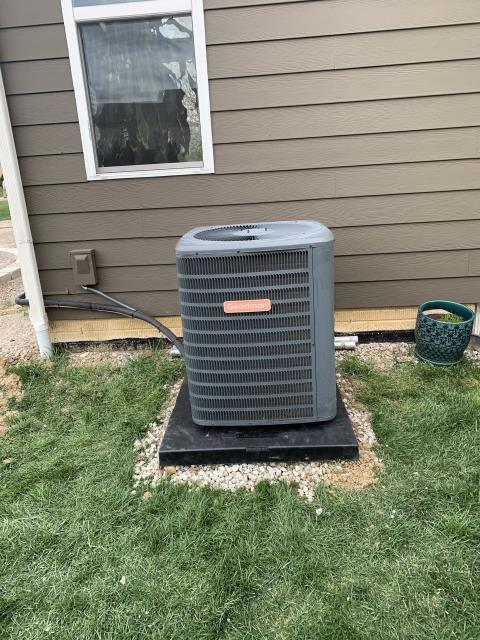 Delaware, OH - I gave a customer an estimate on relocating the 2013 Goodman Air Conditioner.