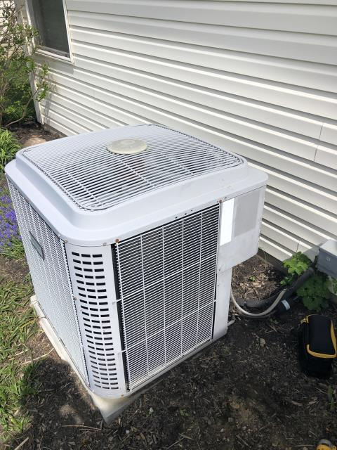 Pataskala, OH - I completed scheduled maintenance spring tune up on a Comfortmaker air conditioner.  I visually inspected the furnace.  Checked voltage and amps. I inspected the evaporator coil.  I checked the temperature difference across the coil.   Checked refrigerant charge, voltages and amps.  I rinsed the condenser coils with water.  Cycled and monitored the system.  Operating normally at this time.