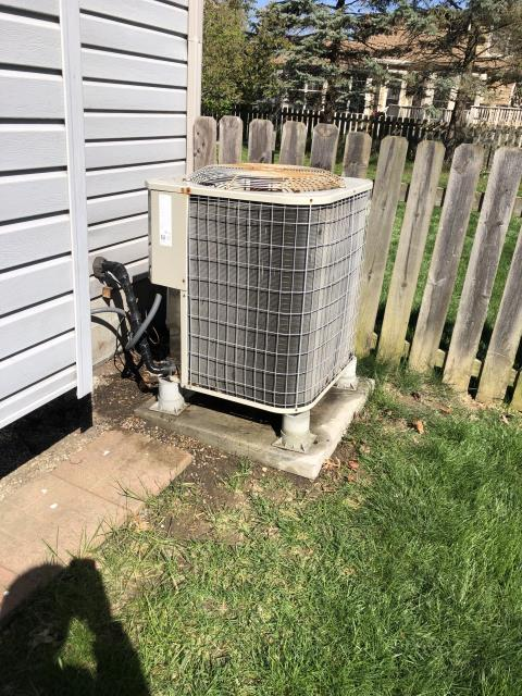 Hilliard, OH - During a tune up on a Payne air conditioner, I inspected the blower wheel, the return air filter and the duct system. I tested the wiring, connections, pressures and temperatures. All tests and readings are within manufacturers specifications at this time.