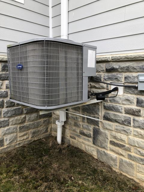 Delaware, OH - During a tune up on a Carrier air conditioner, I tested the pressures, temperatures and electrical components. I found all readings and tests to be within manufacturers specifications at this time. Unit is cooling at time of departure.