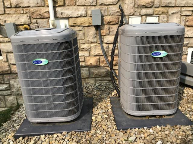 """Blacklick, OH - During a tune up on a Carrier """"Infinity Series"""" 19 SEER Variable-Speed 3 Ton Air Conditioner, I tested the pressures, temperatures and electrical components. Everything is operating within manufacturers specifications and unit is cooling properly at time of departure."""