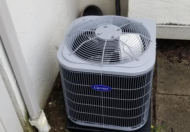 Groveport, OH - During a tune up on a Carrier 13 SEER 2 Ton Air Conditioner, I inspected the condensate drain, duct system and blower wheel. I tested the temperatures, pressures and electrical components. All operating properly at this time.