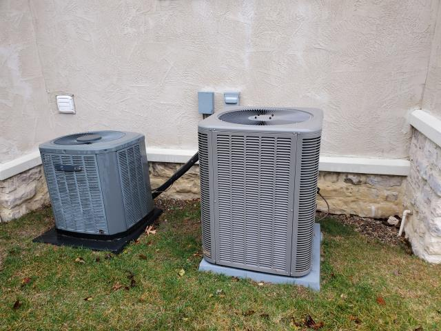 Dublin, OH - I performed a tune up and safety check on a Lennox air conditioner.  I washed the condenser coils.  The system was fully operational when I left.
