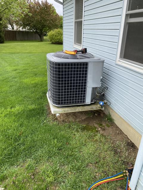 Reynoldsburg, OH - I performed a tune up and safety check on an air conditioning unit.  I found that the return air filter was dirty so I replaced it.  No other issues were found and the system was fully operational when I left.