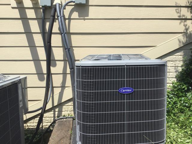 Pickerington, OH - During a tune up and safety check on a Carrier 13 SEER 3.5 Ton Air Conditioner, I tested the pressures, temperatures, amps and electrical components. I also changed out batteries in the thermostat. Everything is operating within manufacturers specifications at this time.