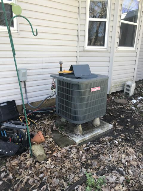 Reynoldsburg, OH - During a tune up and safety check on a Goodman heat pump, I tested the pressures, temperatures, amps and wiring. I inspected the blower wheel, the return air filter and the duct system. Everything is operating within manufacturers specifications at this time.