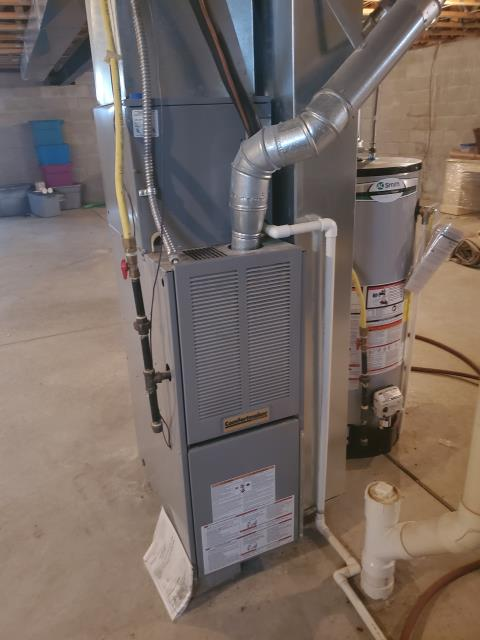 Blacklick, OH - I found that the spark ignitor cycles, the gas ignites, the blower is working and the heat rise is good. I found that the dirty filter caused the system to overheat and enter a safety lockout. I changed the filter with customer provided filter and cycled the ICP gas furnace, all good at this time.
