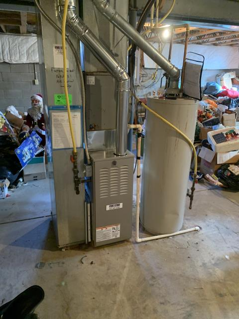 Groveport, OH - I removed a Comfortmaker gas furnace (see picture below).  I installed a Five Star 80% 70,000 BTU Gas Furnace.  Cycled and monitored the system.  Operating normally at this time.  Included with the installation is a free 1 year service maintenance agreement.