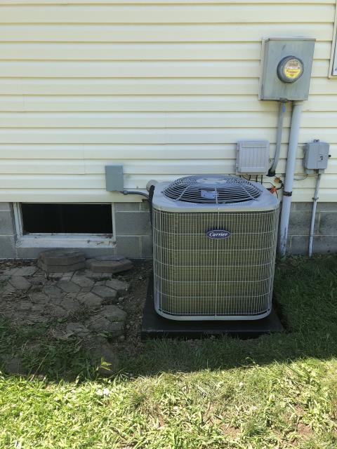 Pickerington, OH - I performed a scheduled maintenance agreement on a Carrier air conditioner. I completed my tune-up checklist and found no issues at this time. Upon departure system is fully operational and cooling properly.