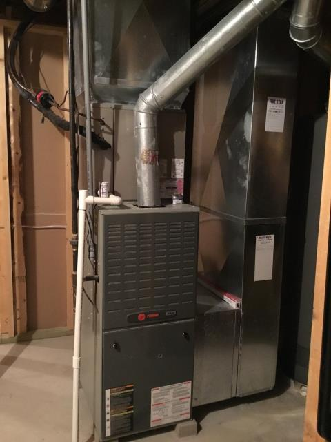 Groveport, OH - I performed a diagnostic on a TRANE gas furnace.  I found that the inducer motor was stuck.  I was able to get it free and allow for temporary heat.  The customer decided to replace with a new unit.