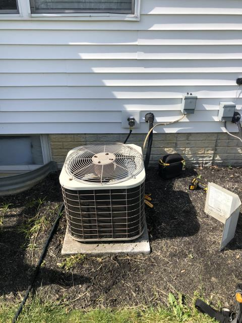 Hilliard, OH - I found that the Bryant condenser has a restriction causing the system to not properly cool the house. I explained all repair versus replace options and due to age and condition of system, customer has opted to replace at this time.