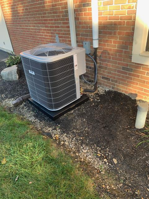 Harrisburg, OH - Upon arrival, I set and tested all pressures. I checked the thermostat and it operates furnace and the Carrier air conditioner properly when called to cool. Everything is operating properly at this time.